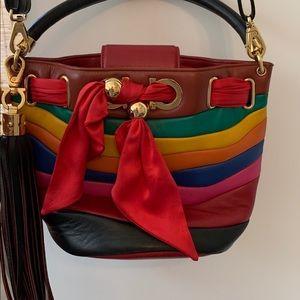 Sara Battaglia x Salvatore Ferragamo Leather Bag